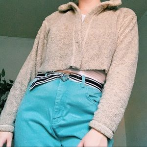 🌈Fizzy Little Brown Button Down Sweater